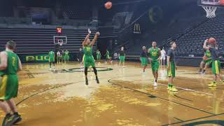 Sights and sounds from Oregon Ducks men's basketball practice