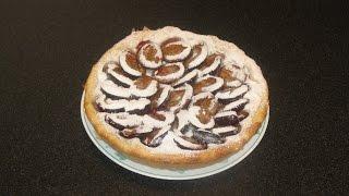 Пирог со сливами - домашний рецепт