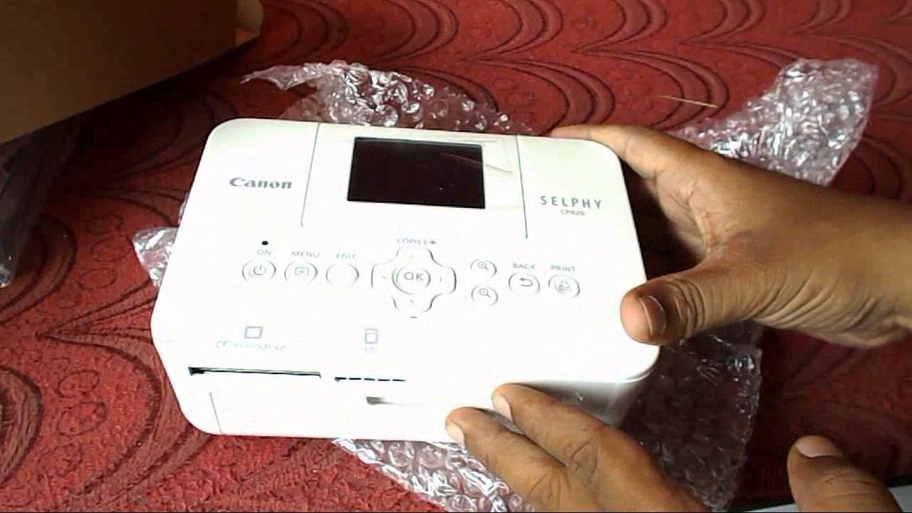 Canon Selphy CP 820 Photo Printer Unboxing And Hands On