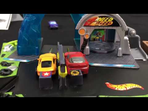 Hot Wheels cars Drag Race Showdown | Atomix need 4 speed #1 micro super toy review kids хот вилс