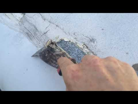 Enclosed cargo trailer roof repair Pro Flex RV and Eternabond