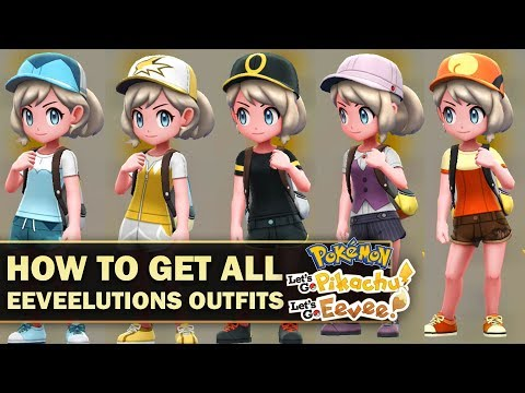 How To Get All Eeveelutions Outfits In Pokémon Lets Go Eevee
