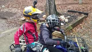 9 year olds on pit bikes and 4 wheelers ripping it up!!