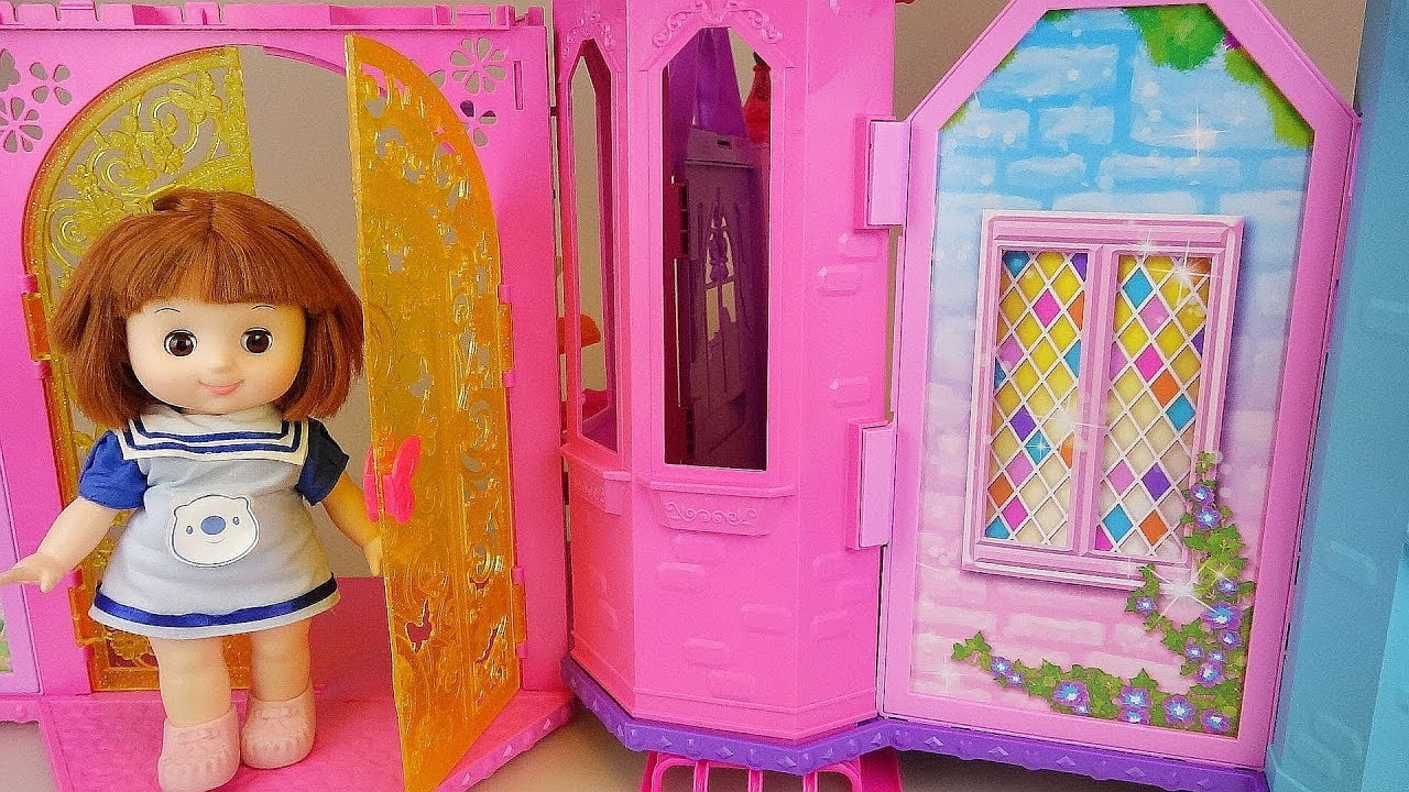 Baby doll two story house play baby Doli story