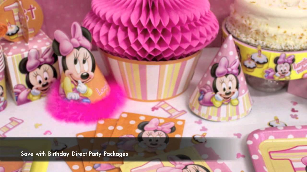 Minnie Mouse 1st Birthday Party Supplies YouTube