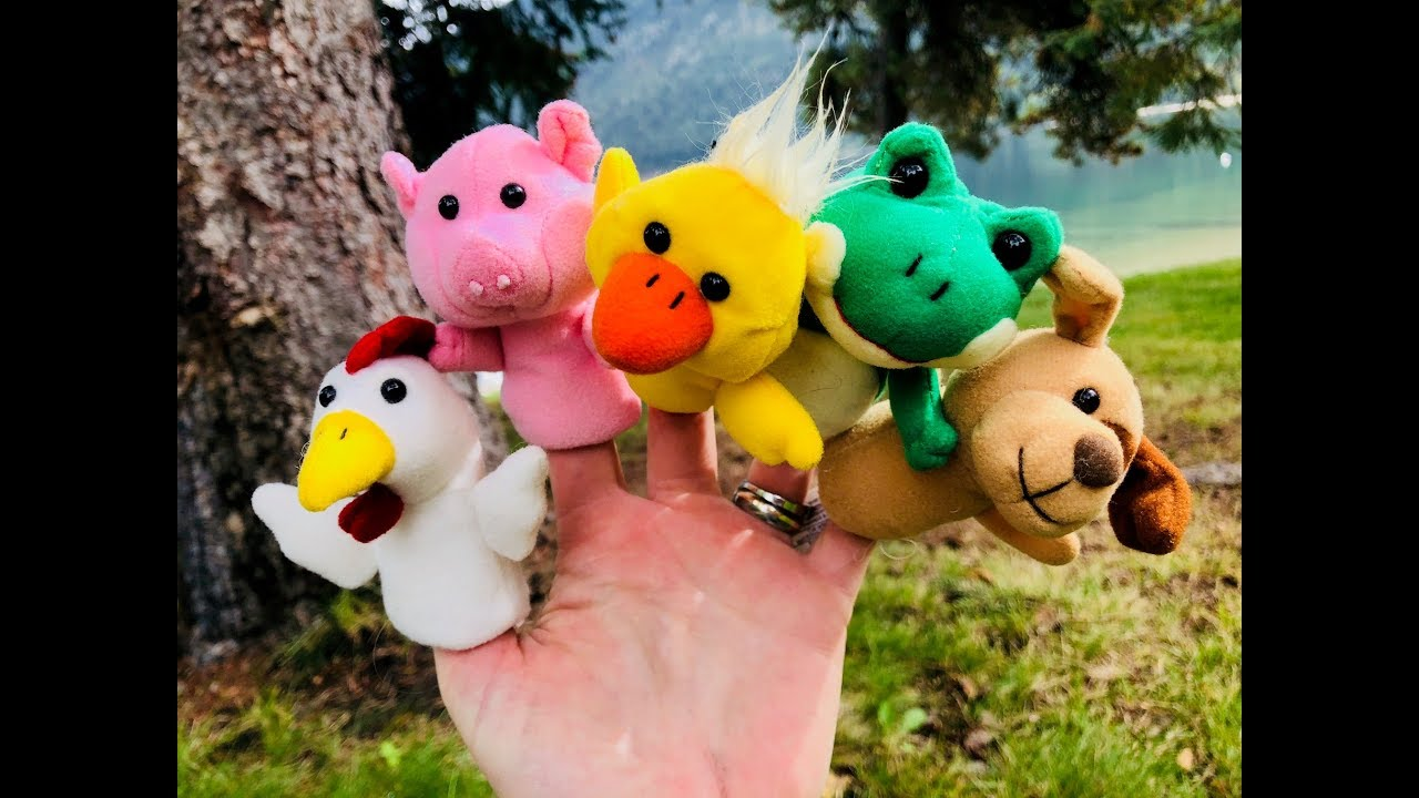 LEARNING ANIMAL SOUNDS and Names with FINGER PUPPET TOYS!