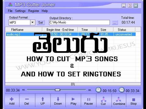 TELUGU HOW TO CUT MP3 SONGS || AND SET RINGTONES
