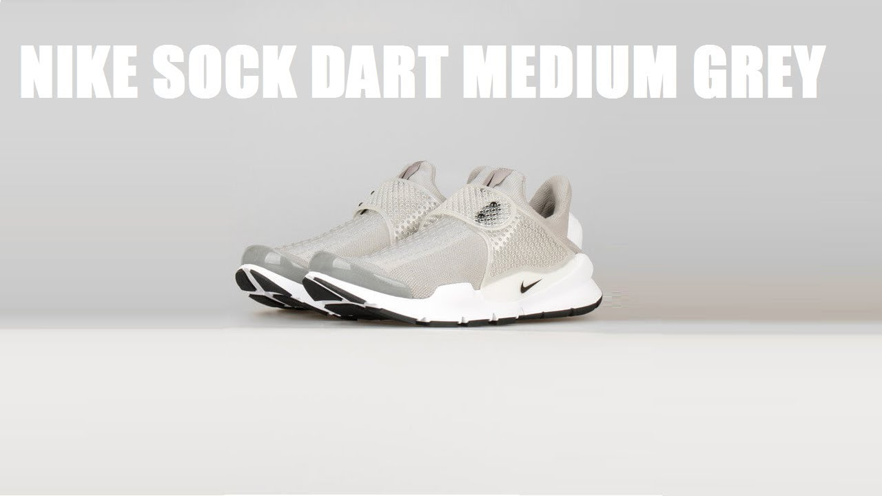 info for c594e 2e448 Nike Sock Dart Medium Grey White ...