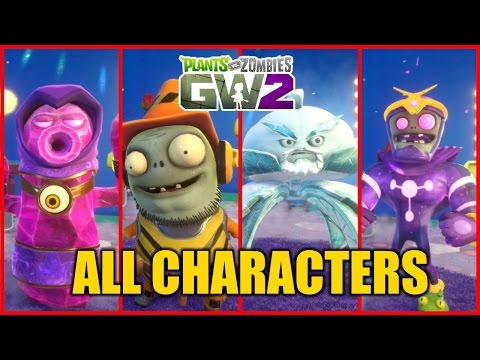 Plants vs Zombies Garden Warfare 2 BETA -  All Character Variants Gameplay/Overview
