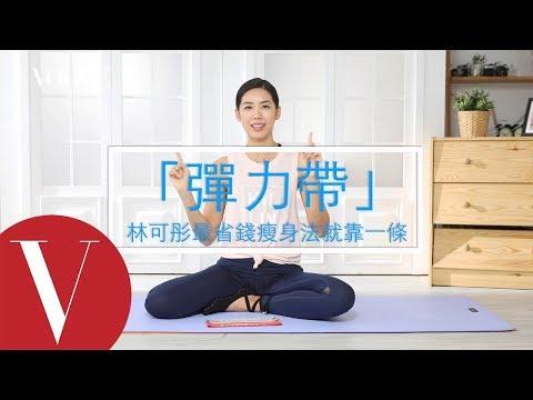 省錢瘦身法!林可彤的彈力帶從頭瘦到腳運動教學 女星請分享