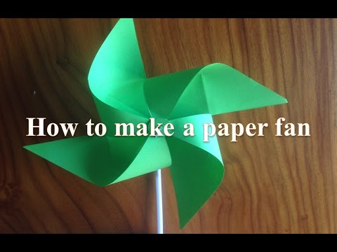 DIY - How to make a paper fan