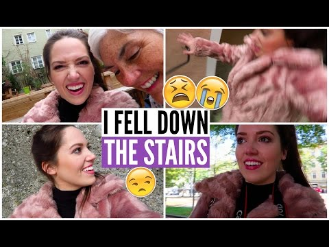 I FELL DOWN THE STAIRS! #AustriaVlogs