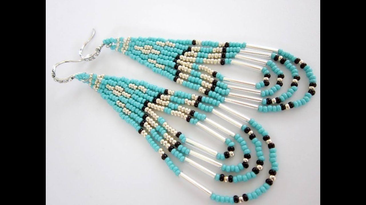 Native american southwestern style beaded earrings youtube for How to make american indian jewelry