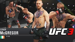Featherweight Conor McGregor Is A Beast! Body Shot Combos - EA Sports UFC 3 Online Gameplay