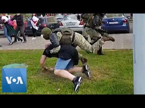 Брутални арести на протестиращи в Беларус