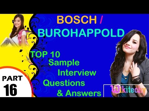 bosch | burohappold important interview questions and answers for freshers
