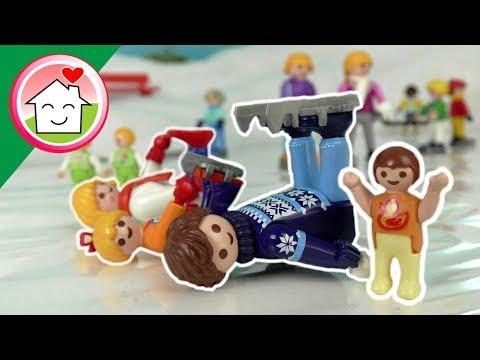 اللعب على الجليد - عائلة عمر - جنه ورؤى