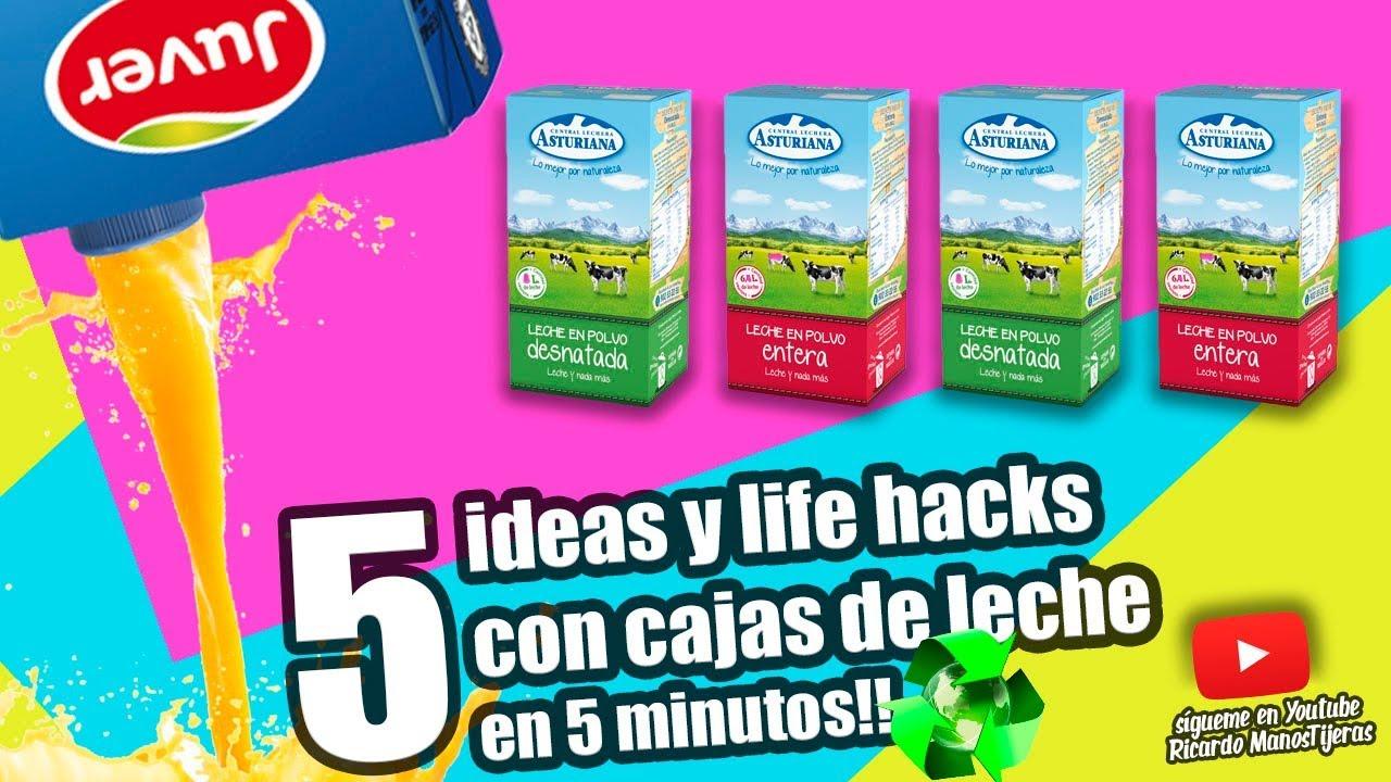 Manualidades Reciclaje5 Ideas Y Life Hacks Con Cajas De Leche
