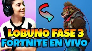 GETTING SKIN LOBUNO PHASE 3 *FORTNITE LIVE WITH HUGO MARKER