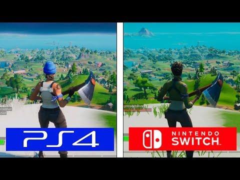 Fortnite Chapter 2 | PS4 Vs Switch | Graphics & FPS Comparison | Comparativa