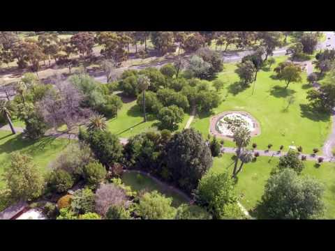 Aerial view of Adelaide CBD Parks, DJI Phantom 3 standard.