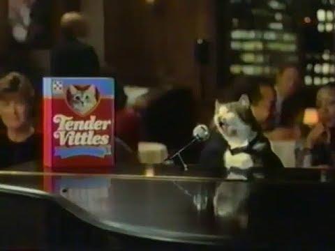 1987 Tender Vittles Cat Food Try A Little Tenderness Commercial