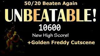 50/20 Mode Beaten, Again!  (+Golden Freddy Cutscene) - Ultimate Custom Night (FNAF)