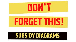 DON'T FORGET! SUBSIDY CONSUMER/PRODUCER GAIN in 2min