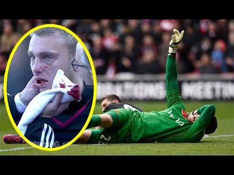 10 Kiper Cedera Paling Mengerikan Sepanjang Masa Sepak Bola ● Ngilu Liatnya ● HD