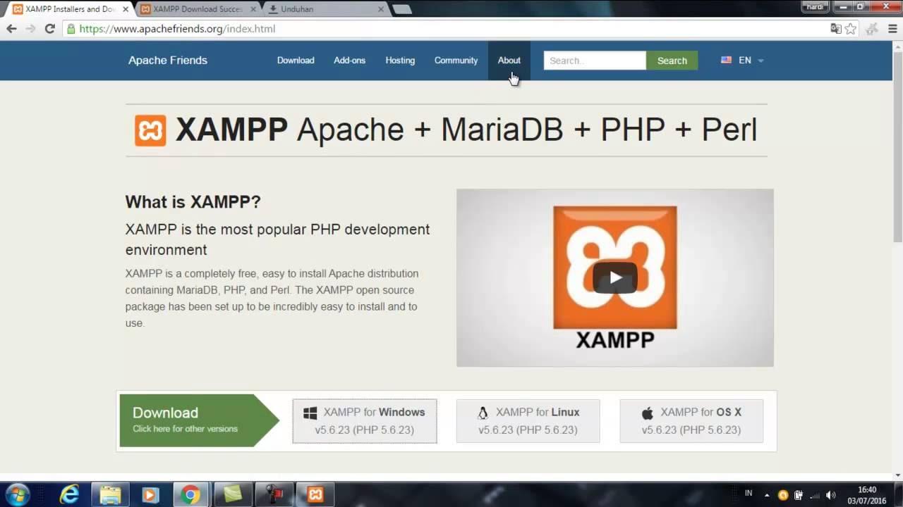 xampp windows 7 64 bits