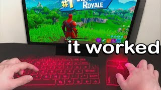 I Tried A Keyboard Using Lasers And Won - Fortnite