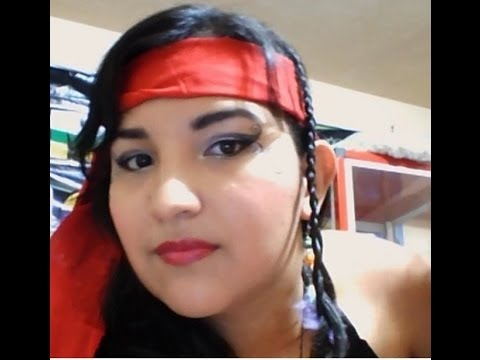 Disfraz de pirata u as y maquillaje segunda parte youtube - Maquillaje pirata nina ...