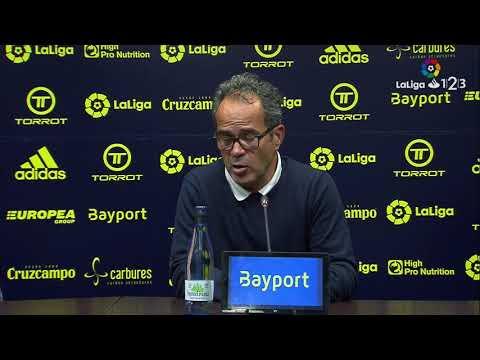 Rueda de prensa de Álvaro Cervera tras el Cádiz CF vs UD Almería (0-0)