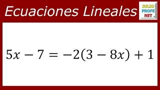 Ecuaciones Lineales - Ejercicio 4
