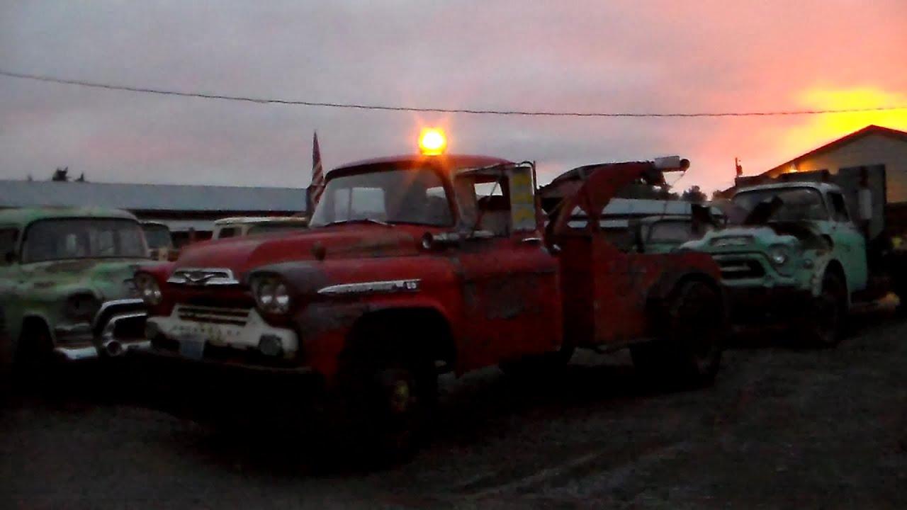 "Chevy Box Truck >> 1959 Chevy Viking 60 Tow Truck ""Homer"" Part 2 - YouTube"