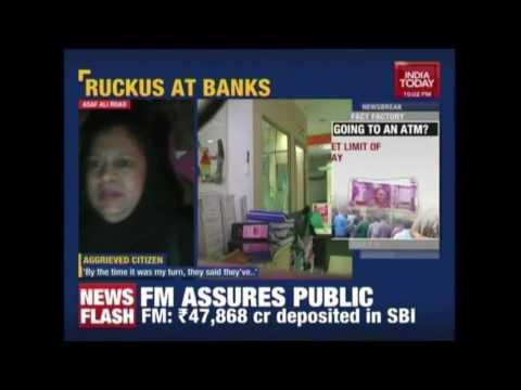 Vandals Run Riot At Banks In Delhi