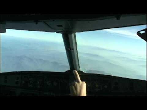 Sarajevo Landing Cockpit A319
