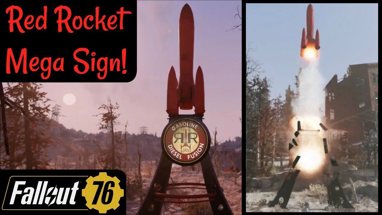 Fallout 76: Red Rocket Mega Sign!