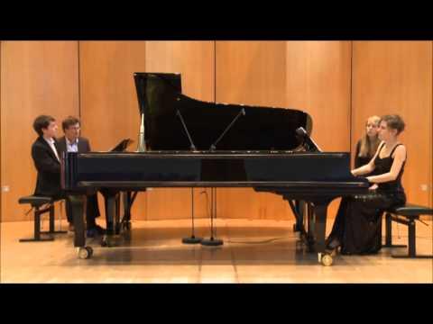 Mozart Sonate für zwei Klaviere D-Dur KV 448, Franziska Glemser und Florian Glemser