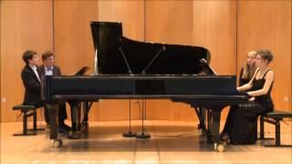 Mozart Sonate für zwei Klaviere D-Dur KV 448, Franziska Glemser (geb. Leicht) und Florian Glemser