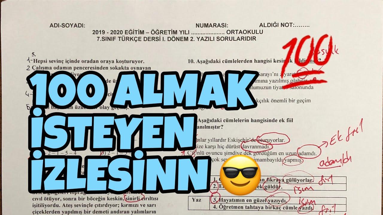 7.Sınıf Türkçe | 2.Dönem 1.Yazılıya Hazırlık ✏️