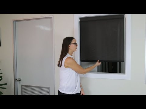 How to Operate a Cordless Roller Blind