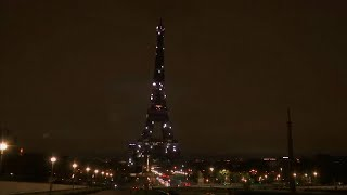 video: Watch: Eiffel Tower lit up to commemorate victims of 2015 Paris terror attacks
