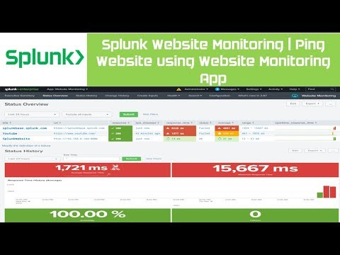 Splunk Website Monitoring   Splunk Base   Setup Website Monitoring App