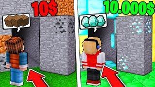 PASSAGEM SECRETA DE 10 REAIS VS PASSAGEM SECRETA DE 10.000 REAIS NO MINECRAFT ! thumbnail