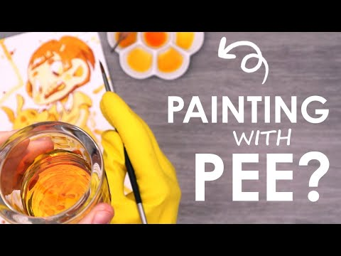 PAINTING With PEE - How Far Is Too Far?!