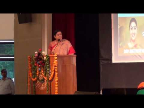 Mrs. SMRITI IRANI Minister for Human Resource Development, Government of India at DAVIET