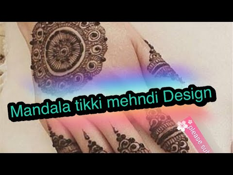 Special stylish easy mandala gol tikki henna/mehndi design for hands 2018 / beautiful mehndi design