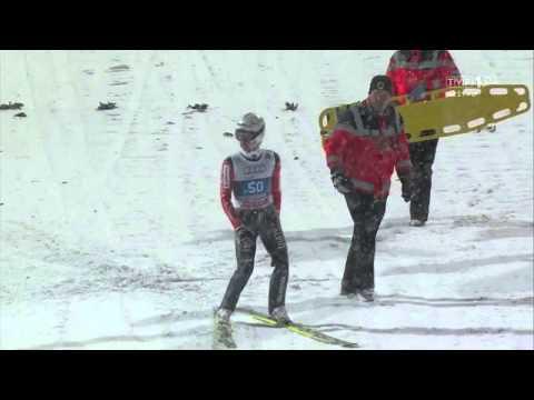 Simon Ammann - Oberstdorf 2014 - 133 m - UPADEK   FALL!