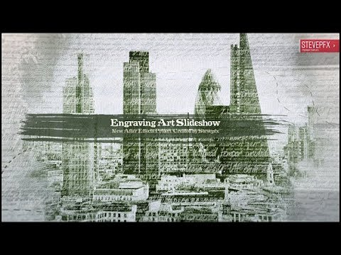 Line Art In After Effects : Engraving art slideshow after effects template youtube